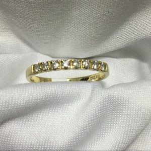 NWT 18k gold diamond band